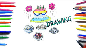 learn colors with drawing step by step with rainbow colors