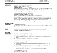 undergraduate curriculum vitae pdf exles shocking undergraduate resume format sle for students gallery