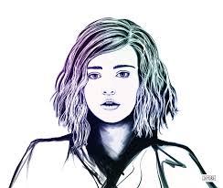 portrait sketch katherine langford 13 reasons why netflix series