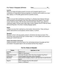 5 themes of geography lesson printables 5 themes of geography worksheets tempojs thousands of