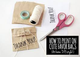 paper favor bags diy favor bags how to print at home