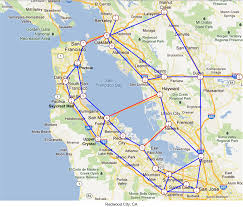 Map Of Greater San Francisco Area by Map Of San Francisco Area Towns Michigan Map