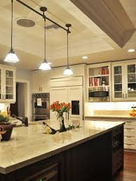 kitchen with pendant track lighting over island stylish pendant