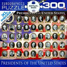 Presidents Of The United States Amazon Com Eurographics Us Presidents Jigsaw Puzzle 300 Piece