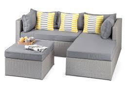 Calabria Grey Rattan Garden Sofa - Wicker sofa sets
