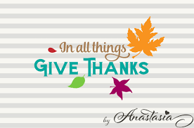 in all things give thanks svg cut file design bundles