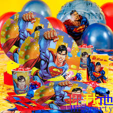 Superman Birthday Party Decoration Ideas Superman Steel Birthday Party Supplies Awesome Cake Topper