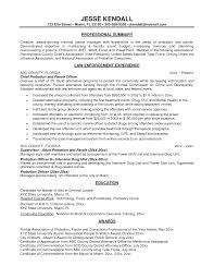 Law Enforcement Resume Templates 28 Resume Format Bank Probationary Officer The 25 Best