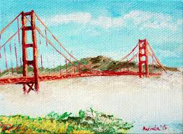 foggy weather at golden gate bridge san francisco painting by