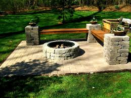 Backyard Fire Pits Designs by Outdoor Fire Pit Charlotte Pavers And Stone