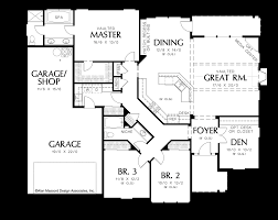 Floor Plan Of A House With Dimensions Mascord House Plan 1231 The Galen
