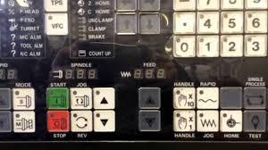 cnc machine mazatrol control panel youtube