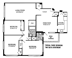 3 Bed 2 Bath Floor Plans by Download 3 Bed Floor Plans Stabygutt