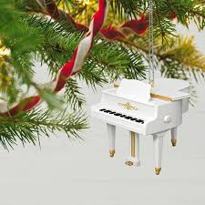 hark the herald sing piano ornament keepsake