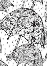 13 umbrella images coloring books