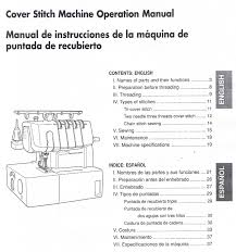 brother 2340cv cover stitch overlock serger machine operating