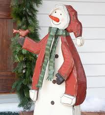 outdoor snowman 87075 crafted large wooden indoor outdoor