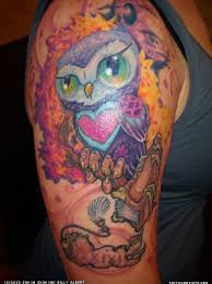 36 best colorful owl tattoos images on pinterest beautiful