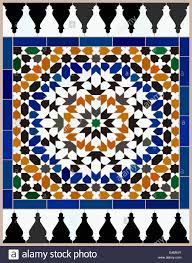 Morrocan Design Area Made Mosaic Tiles Based On A Moroccan Design With Complex