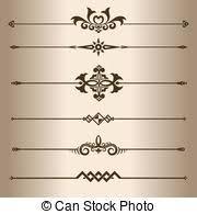 Decorative Line Clip Art Line Dividers Clip Art Vector Graphics 7 629 Line Dividers Eps