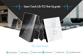 wifi controlled light switch uk standard broadlink tc2 wireless 1 gang wall light switch wifi