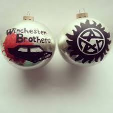 supernatural ornaments this is brilliant with a castiel on