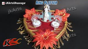 Plate Decoration For Engagement How To Make Engagement Wedding Ring Platter Jk Arts 484 Youtube