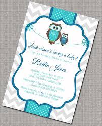 owl boy baby shower invitations invitation ideas