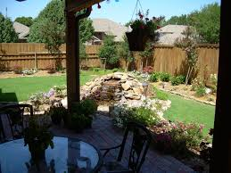 stunning fence decor for spacious patio which is decorated with