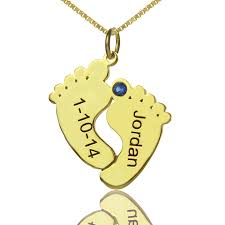 name charms memory baby charms with date name gold