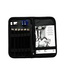 drawing and sketching pencil set in zippered carrying case buy