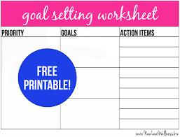 setting life goals worksheet worksheets
