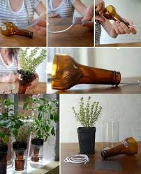 How To Make Self Watering Planters by Wonderful Diy Cutting Glass Bottles For Self Watering Planter
