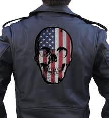 American Flag Skull Patriotic Usa American Flag Skull Biker Patch U2013 Quality Biker Patches