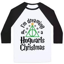 i m dreaming of a i m dreaming of a hogwarts christmas baseball tees human