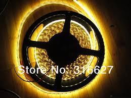 yellow led strip lights necen 5m 12v led strip lights 2835 smd 300leds m waterproof ip65 5m