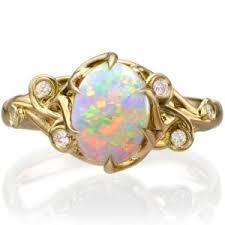 opal and diamond engagement rings engagement rings doron merav jewelry design
