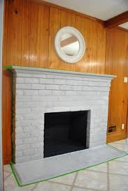 Remove Brick Fireplace by How To Prep Prime And Paint A Brick Fireplace Young House Love