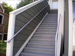 Deck Stair Handrail Outdoor Magnificent Simple Deck Stairs Plastic Deck Railing