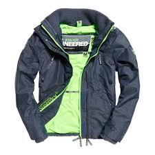 superdry microfibre fur windbomber jackets black men s clothing