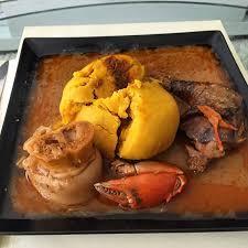 recette de cuisine africaine malienne foufou de cote d ivoire sauce aubergine crabe poule fumé et patte