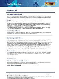 jotun paints procedure paint specification technical standard