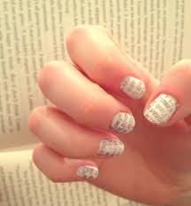 how to do newspaper nail art without alcohol nail art ideas