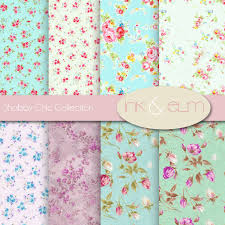 vintage floral wrapping paper shabby chic digital paper vintage floral and