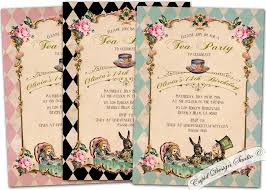 alice in wonderland baby shower invitations www awalkinhell com