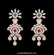 diamond earrings india party wear diamond earrings kothari jewellery projects to try