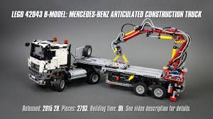 zobic dumper truck trucks for lego technic 42043 b model mercedes benz articulated construction