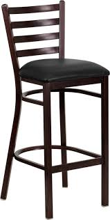 cafe bar stools metal cafe bar stools wood look ladder back