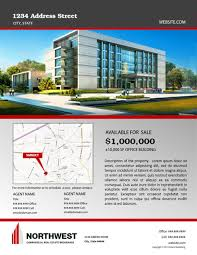 company brochure template for commercial real estate