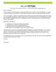 best transportation customer service advisor cover letter examples